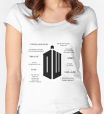 Doctor Who Quotes Women's Fitted Scoop T-Shirt