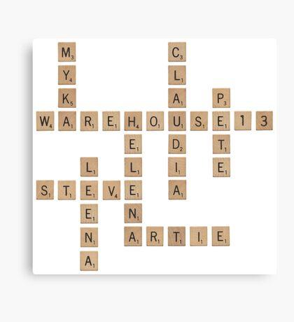 Warehouse Scrabble Canvas Print