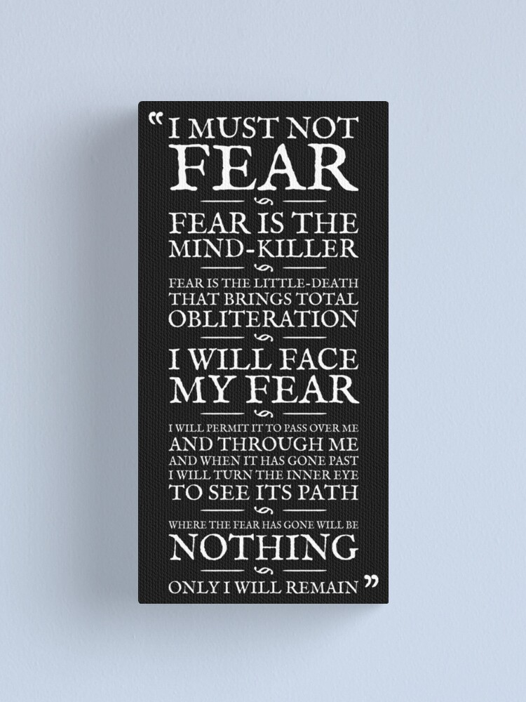 Alternate view of Litany Against Fear Canvas Print