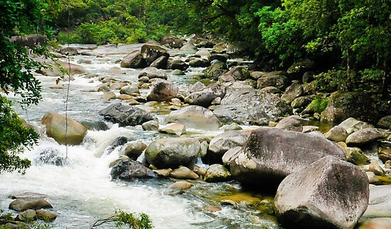 Flowing Waters of Mossman Gorge - FNQ by Lexa Harpell