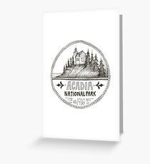 Acadia National Park Circle Greeting Card