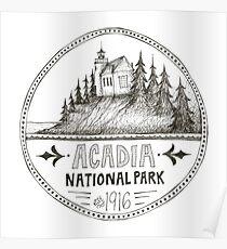 Acadia National Park Circle Poster