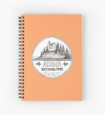 Acadia National Park Circle Spiral Notebook