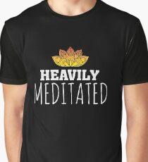 Heavily Meditated - Yoga Zen Lotus Flower Graphic T-Shirt