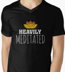 Heavily Meditated - Yoga Zen Lotus Flower T-Shirt
