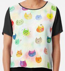 Cat confetti Chiffon Top