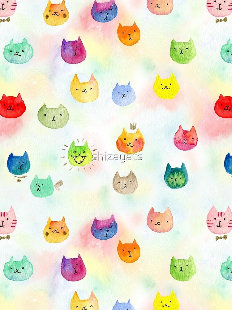 Cat confetti by shizayats