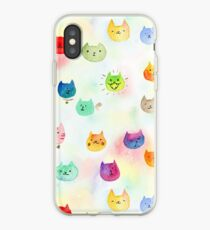 Cat confetti iPhone Case
