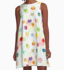 Cat confetti A-Line Dress