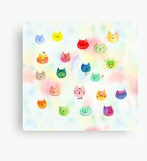 Cat confetti Canvas Print