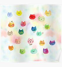 Cat confetti Poster