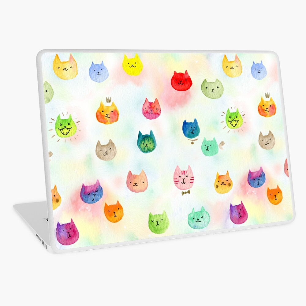 Cat confetti Laptop Skin