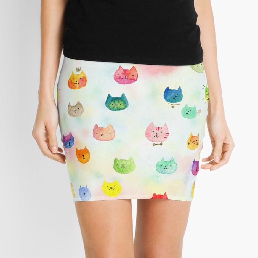 Cat confetti Mini Skirt