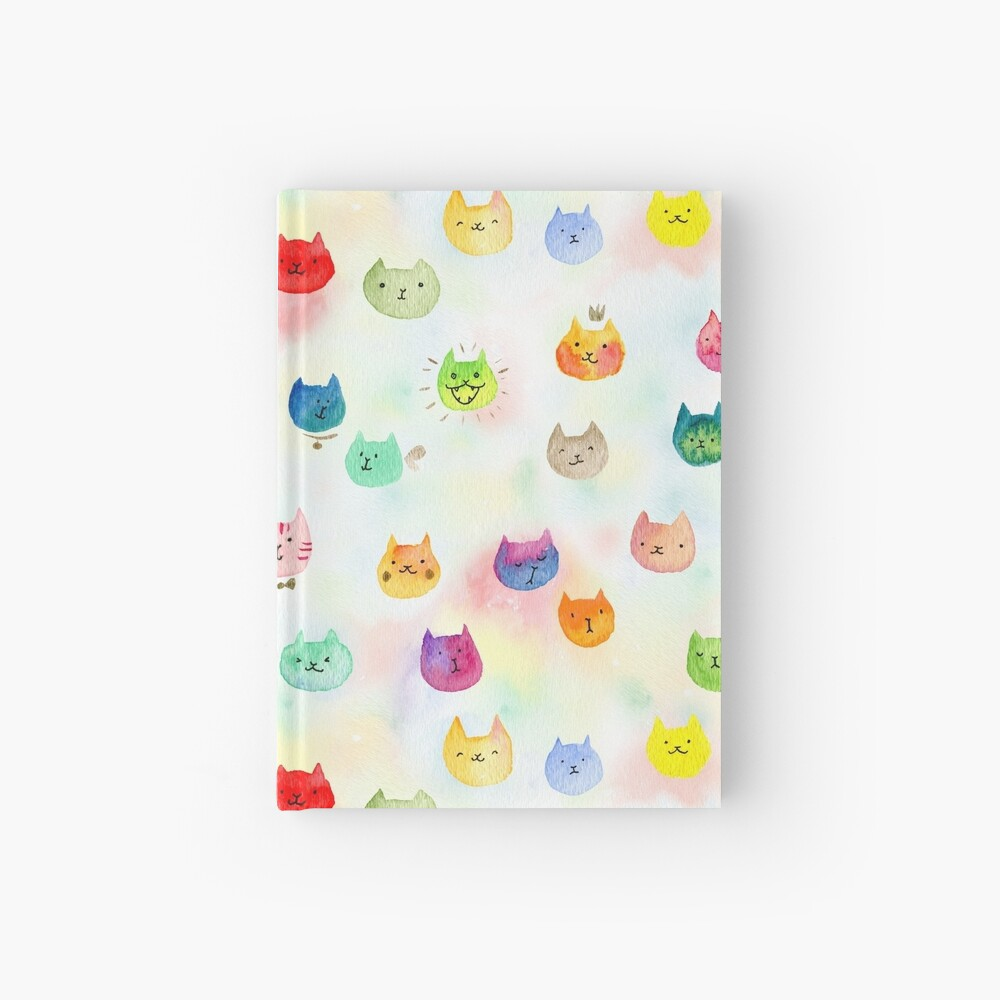 Cat confetti Hardcover Journal