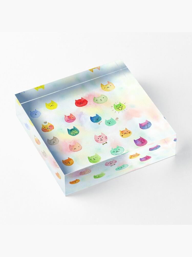 Alternate view of Cat confetti Acrylic Block