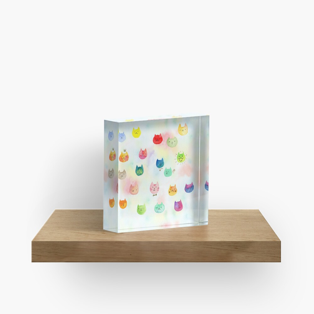 Cat confetti Acrylic Block