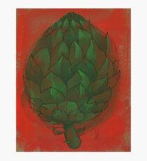 Artichoke on red Photographic Print