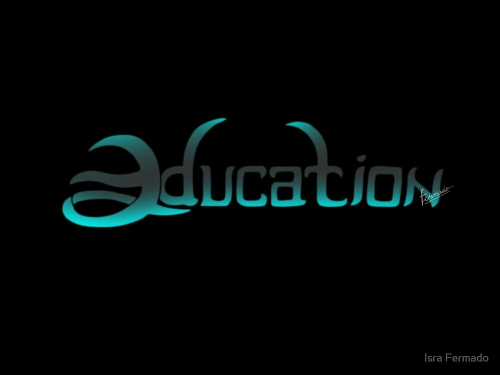 education lettering by Fermado