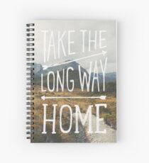 TAKE THE LONG WAY Spiral Notebook