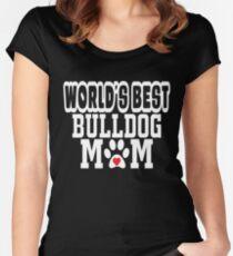 World's Best Bulldog Mom Dog Lover Women's Fitted Scoop T-Shirt