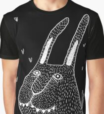 Night Bunny Moth Graphic T-Shirt