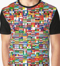 Flaggen der Welt Grafik T-Shirt