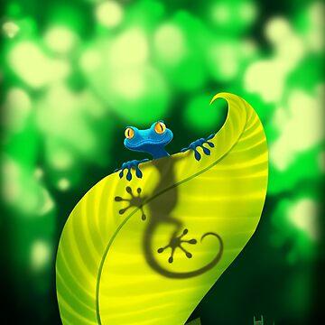 Blue Gecko by shizayats