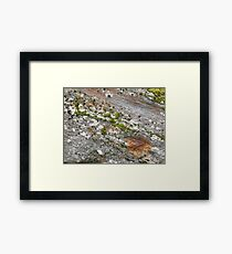 Glacier rock colours Framed Print