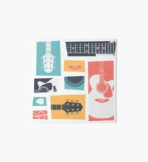 Guitar Collage Art Board Print