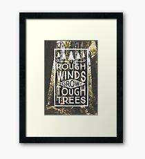 TOUGH TREES Framed Print