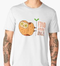 Owl wisdom. Find a perfect angle. Men's Premium T-Shirt