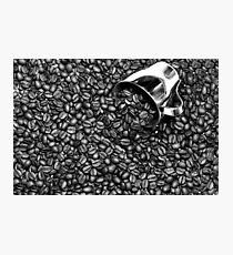 Coffee beans in black and white Photographic Print