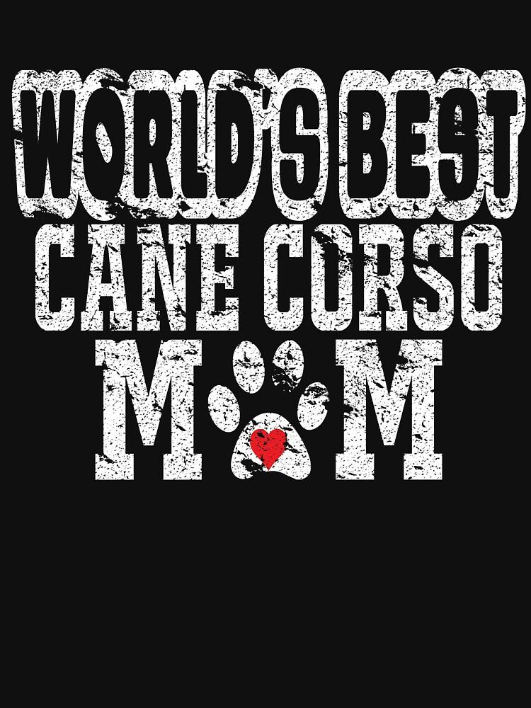 World's Best Cane Carso Mom Dog Lover Distressed by matt76c