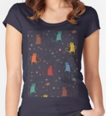 Dancing Cats. Women's Fitted Scoop T-Shirt