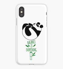 Balance Is Everything! Tumbling panda. iPhone Case/Skin