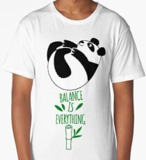 Balance Is Everything! Tumbling panda. Long T-Shirt