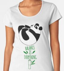 Balance Is Everything! Tumbling panda. Women's Premium T-Shirt
