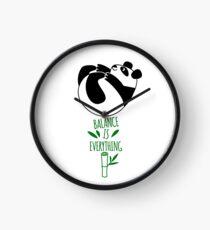 Balance Is Everything! Tumbling panda. Clock