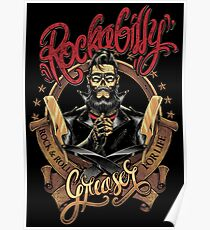 Rockabilly Greaser Poster
