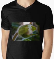 Flower macro Mens V-Neck T-Shirt