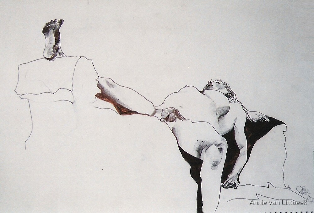 Nude with legs parted, 2007 by Annie van Limbeek