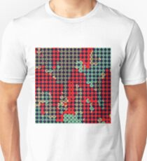 circle pattern graffiti drawing abstract in red and blue T-Shirt