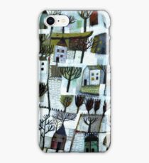 Walking to you. A winter scene. iPhone Case/Skin