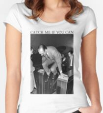 Jacques Chirac - Catch Me If You Can Women's Fitted Scoop T-Shirt