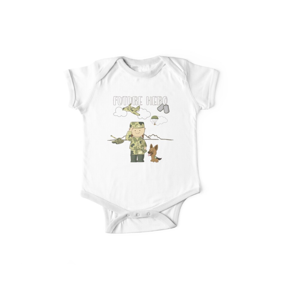 Future Hero - Girl Soldier Women in Military Pride by nvdesign