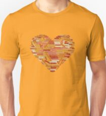 Love and help yourself, self compassion and care, 100 hundred kind words cloud in heart shape Unisex T-Shirt