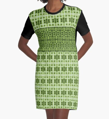 Beautiful Artistic Green Design Graphic T-Shirt Dress