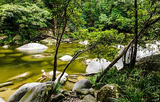 The Swimming Hole -  Mossman Gorge - FNQ by Lexa Harpell
