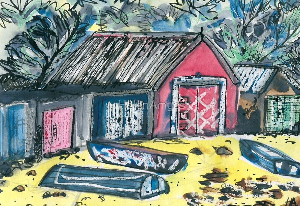 Boat Huts Pirate Bay 2 by HelenAmyes
