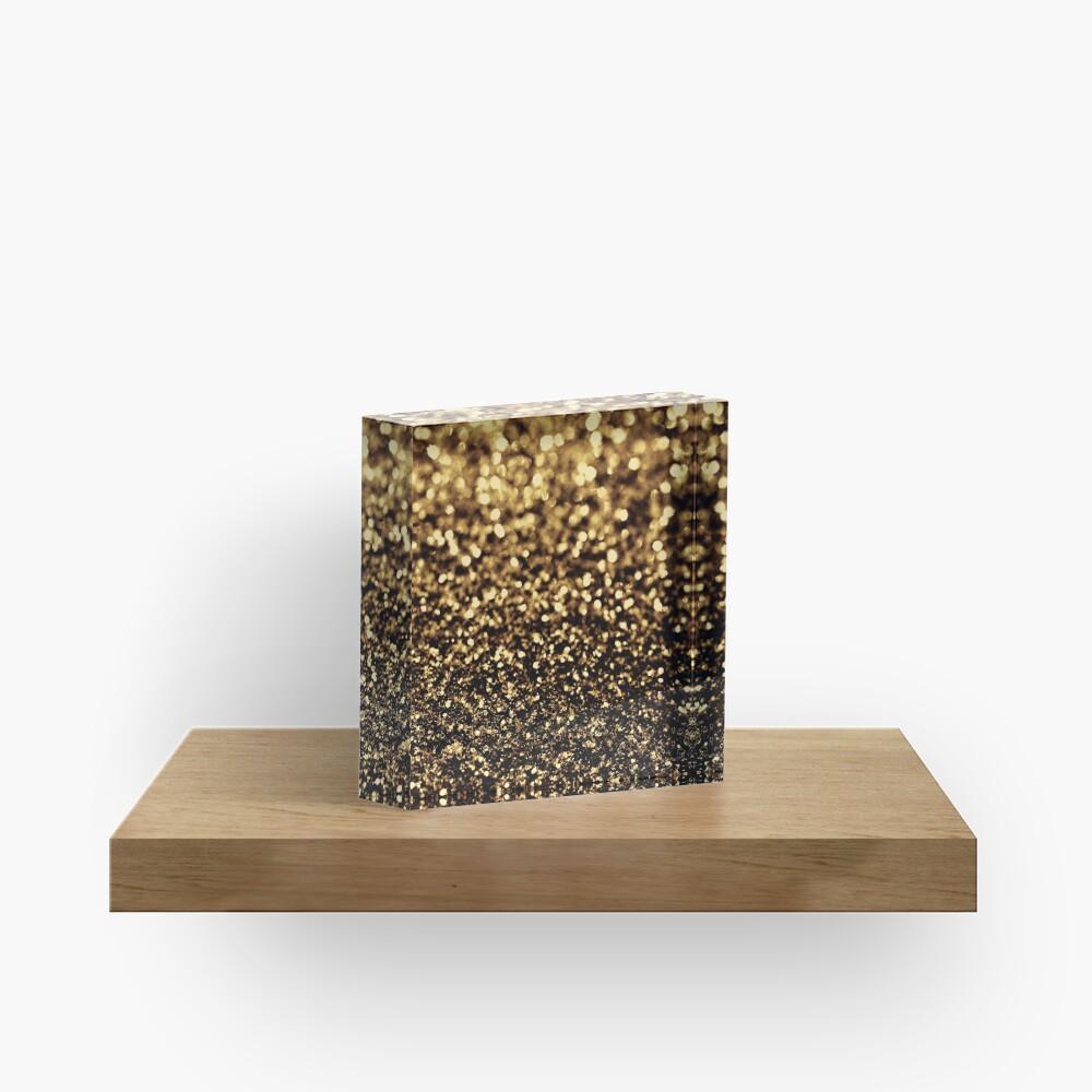 black gold Acrylic Block